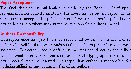 Paper Acceptance The final decision on publication is made by the Editor-in-Chief upon recommenda...